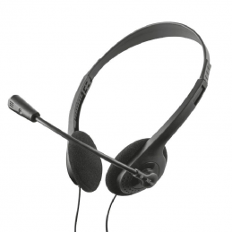 Auriculares trust hs-100 chat headset 24423/ con micrófono/ jack 3.5/ negros