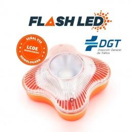Luz de emergencia para coche v16 wikango help flash led/ homologada/ base imantada/ funciona a pilas