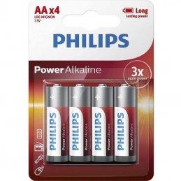 Pack de 4 pilas philips lr6p4b/10/ 1.5v/ alcalina