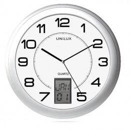 Reloj de pared unilux instinct/ gris