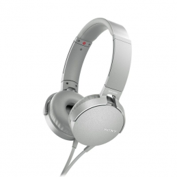 Auriculares sony mdr-xb550 extra bass/ jack 3.5/ blancos