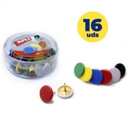 Pack de 16 cajas de 50 chinchetas apli 11733/ colores surtidos