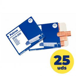 Cajas de grapas petrus esselte 23600/ 23/6/ 25 cajas de 1000 unidades