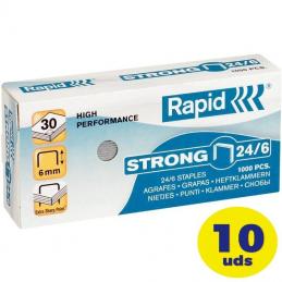 Cajas de grapas petrus esselte rapid/ 24/6/ 10 cajas de 1000 unidades