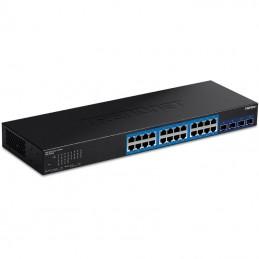 Switch gestionable trendnet teg-30284 24 puertos/ rj-45 gigabit 10/100/1000/ sfp
