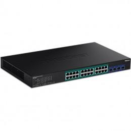 Switch gestionable trendnet tpe-30284 24 puertos/ rj-45 gigabit 10/100/1000/ poe/ sfp