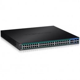 Switch gestionable trendnet tpe-5048ws 48 puertos/ rj-45 gigabit 10/100/1000 poe/ sfp