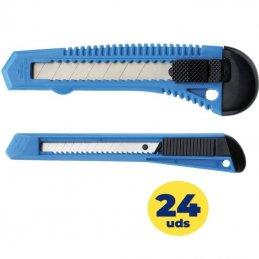 Cutter grafoplás westcott office 73584000 cuchilla 9mm/ 24 unidades