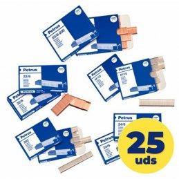 Caja de grapas petrus esselte 55721/ 22/6/ 25 cajas de 1000 unidades