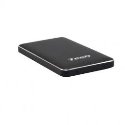 Caja externa para disco duro de 2.5' tooq tqe-2531b/ usb 3.1/ incluye adaptador usb-a a usb-c