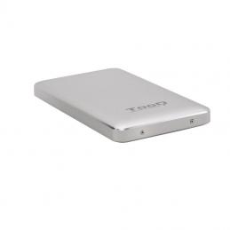 Caja externa para disco duro de 2.5' tooq tqe-2531s/ usb 3.1/ incluye adaptador usb-a a usb-c