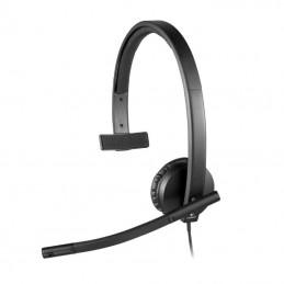 Auricular logitech h570e/ con micrófono/ usb/ negro