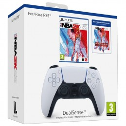 Gamepad inalámbrico sony dualsense para ps5 + juego nba 2k22 edición estándar + lote jumpstart nba 2k22/ blanco