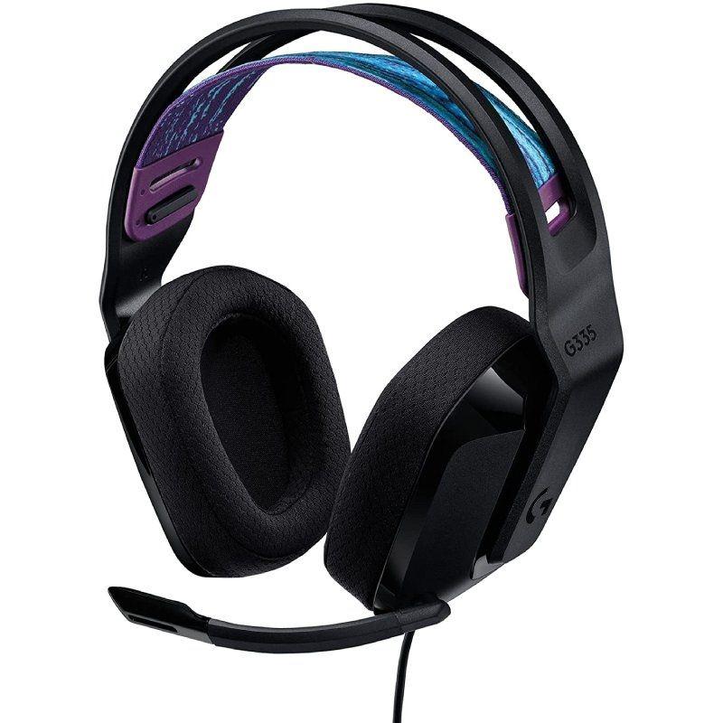 Auriculares logitech g335/ con micrófono/ jack 3.5/ negros