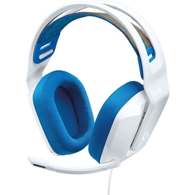 Auriculares logitech g335/ con micrófono/ usb/ blancos