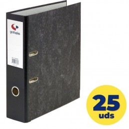 Caja de archivadores grafoplás ecoclasic 07179100/ folio 290 x 350 x 75mm/ negro/ 25 unidades