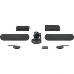 Sistema de videoconferencia logitech rally plus/ campo de visión 82º/ 4k