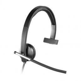 Auricular logitech h650e/ con micrófono/ usb/ negro