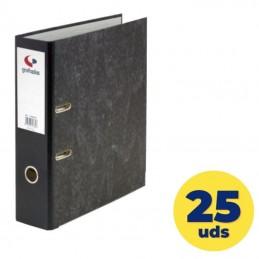 Caja de archivadores grafoplás ecoclasic 07169100/ a4 290 x 318 x 75mm/ negro/ 25 unidades