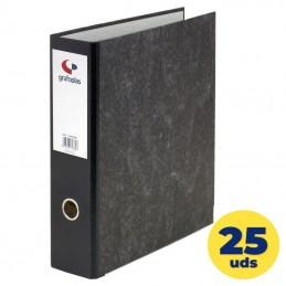 Caja de archivadores grafoplás ecoclasic 07169000/ a4 290 x 318 x 75mm/ negro/ 25 unidades