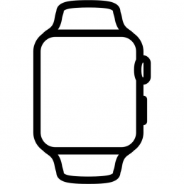 Apple watch se/ gps/ 44 mm/ caja de aluminio en plata/ correa deportiva negro medianoche