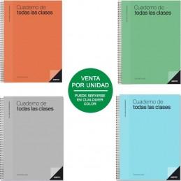 Cuaderno todas las clases profesorado additio p222/ 136 hojas/ 22.5 x 31cm/ colores surtidos