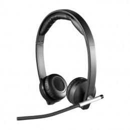 Auriculares inalámbricos logitech h820e/ con micrófono/ usb/ radiofrecuencia/ negros