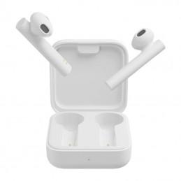 Auriculares bluetooth xiaomi mi true wireless earphone 2 basic con estuche de carga/ autonomía 5h/ blancos