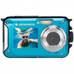 Cámara digital deportiva agfaphoto realishot wp8000/ 24mp/ azul