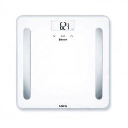 Báscula de baño beurer bf-600 pure/ análisis corporal/ bluetooth/ hasta 180kg/ blanca