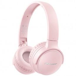 Auriculares inalámbricos pioneer se-s3bt-p/ con micrófono/ bluetooth/ rosas