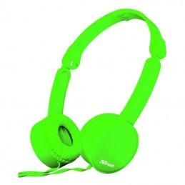 Auriculares trust nano 23101/ con micrófono/ jack 3.5/ verdes