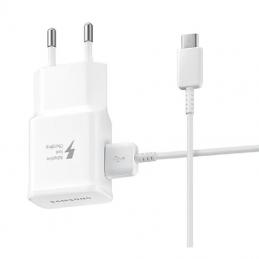 Cargador de pared samsung wall charger ep-ta20ewecgww/ 1 usb + cable usb tipo-c/ 2a/ bulk