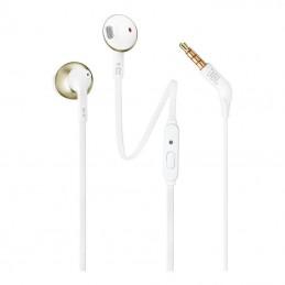 Auriculares intrauditivos jbl 205/ con micrófono/ jack 3.5/ oro champán y blancos