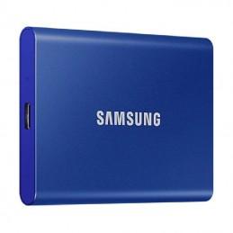 Disco externo ssd samsung portable t7 1tb/ usb 3.2/ azul
