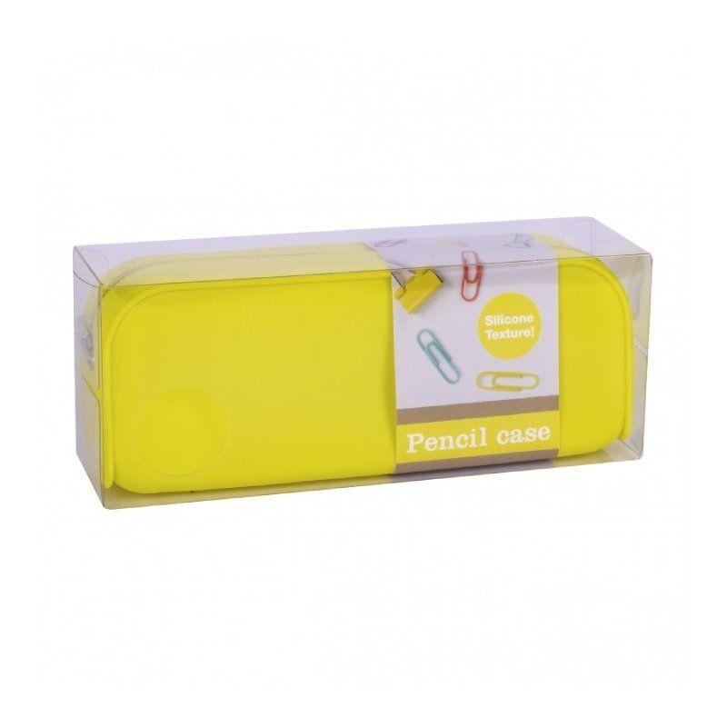 Estuche portatodo apli fluor collection/ 185 x 75 x 55mm/ amarillo fluorescente