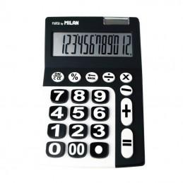 Calculadora milan 150912kbl/ negra y blanca