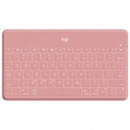 Teclado inalámbrico por bluetooth logitech keys-to-go para iphone/ rosa