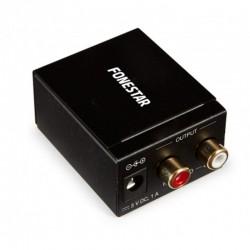 Convertidor de audio fonestar fo-37da/ entrada toslink y rca/ salida 2x rca