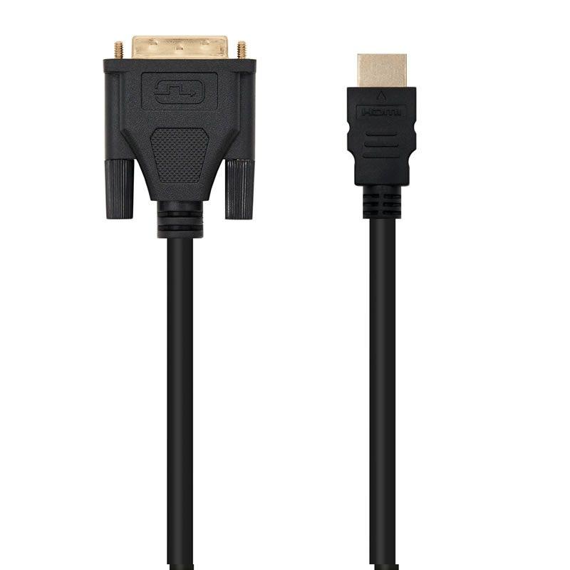 Cable hdmi-dvi nanocable 10.15.0502 - conectores dvi 18+1 macho-hdmi tipo a macho - 1.8 metros