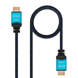 Cable hdmi nanocable 10.15.3710 - v2.0 - conectores hdmi (tipo a) macho - multiple apantallamiento y recubrimiento nylon - 10m