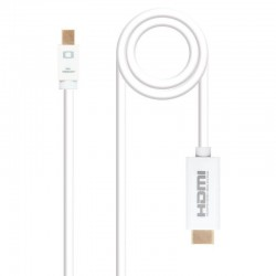 Cable mini displayport nanocable 10.15.4003/ mini displayport macho - hdmi macho/ 3m/ blanco