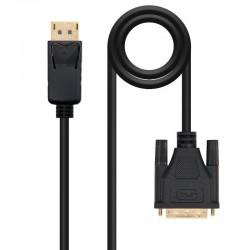 Cable displayport a dvi nanocable 10.15.4502/ dp macho - dvi macho/ 2m/ negro