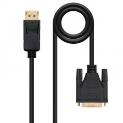 Cable displayport nanocable 10.15.4502/ displayport macho - dvi macho/ 2m/ negro