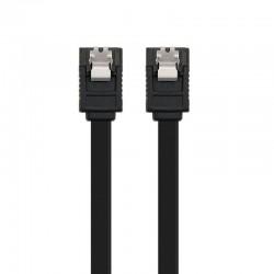 Cable sata iii con anclajes nanocable 10.18.1001-bk - velocidad hasta 6gbp/s - 0.5m - negro