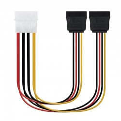 Cable duplicador de alimentación nanocable 10.19.0101-oem/ molex macho - 2x sata hembra/ 20cm