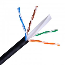 Bobina de cable rj45 utp aisens a135-0263 cat.6/ 100m/ negro