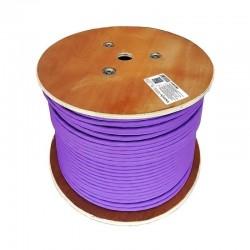 Bobina de cable aisens a146-0368 - rj45 - cat 7 - s/ftp - awg23 con cpr - 305m - violeta
