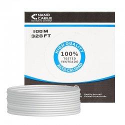 Bobina de cable rj45 utp nanocable 10.20.0502 cat.6e/ 100m/ gris