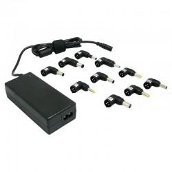 Cargador de portátil leotec/ 70w/ automático/ 10 conectores/ voltaje 15-20v